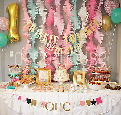Party Garland Wedding Backdrop Tissue Paper Garland Photo Backdrop- Teal Mint Gold Peach Photo Backdrop Paper Garland Wedding Garland