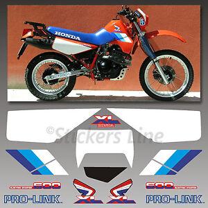 Kit-adesivi-Honda-XL-600-RM-1986-90-stickers-xl-600rm-mod-Rosso-decal-xl600rm