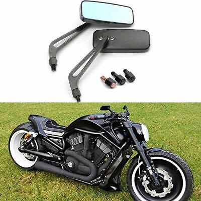 Pair Motorcycle Wing Side Anti-glare Mirrors Motorbike Rectangle Rearview Black  | eBay