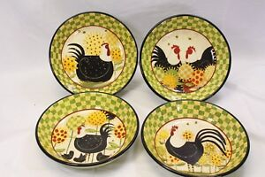 Certified-International-Oh-Happy-Day-Dan-Dipaolo-Pasta-Bowls-9-5-034-Lot-of-7