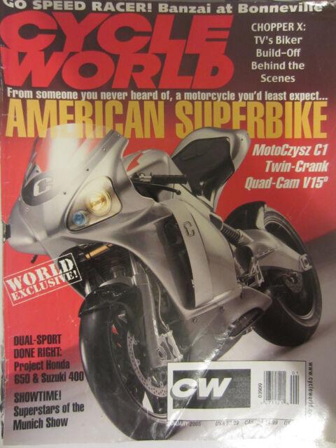 Cycle World Magazine January 2005 American Superbike