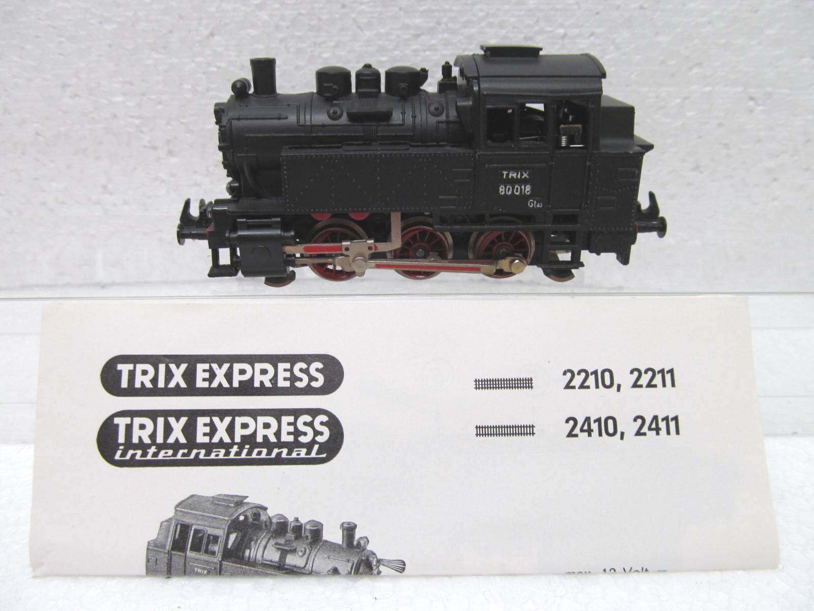 Mes-39751 Trix internamente. locomotiva h0 80 018 ottime condizioni, esaminato funzione,