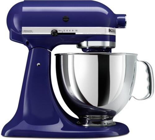 New Cobalt Blue KitchenAid Stand Mixer Tilt 4.5-Quart ksm85pbbu Metal 10-speed