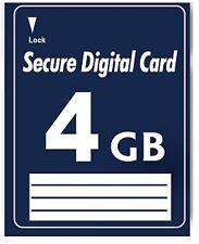 Secure Digital 4GB SD Karte Speicherkarte für Audi A4 (B7) mit RNS-E Navi Plus