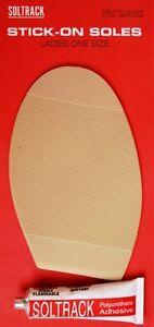Señoras natural Soltrack Stick-en las suelas Kit de reparación de calzado