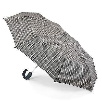 Fulton Gents Open & Close-12 Grey Windowpane Umbrella