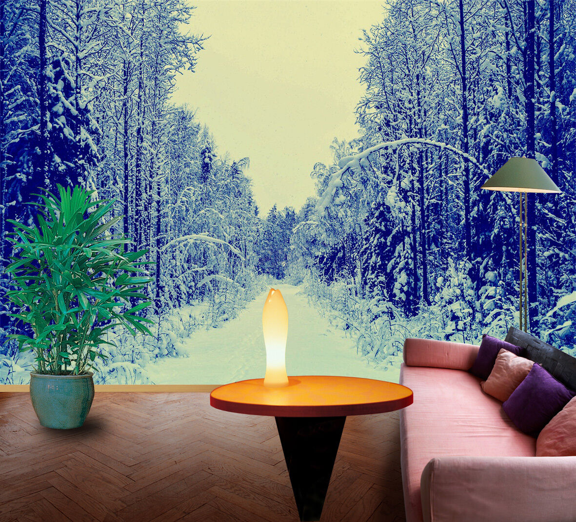 3D Snow Forest 1053 WallPaper Murals Wall Print Decal Wall Deco AJ WALLPAPER