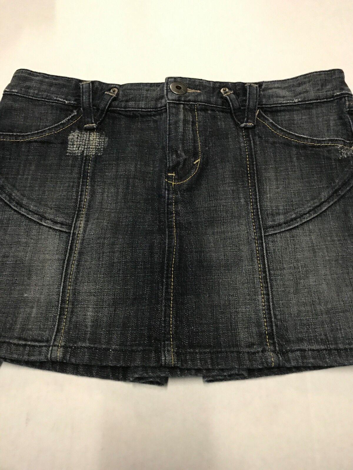 edb36a5956 Armani Exchange Skirt Dark Denim Skirt Size 8 Distressed Women's  nweibe20-Skirts