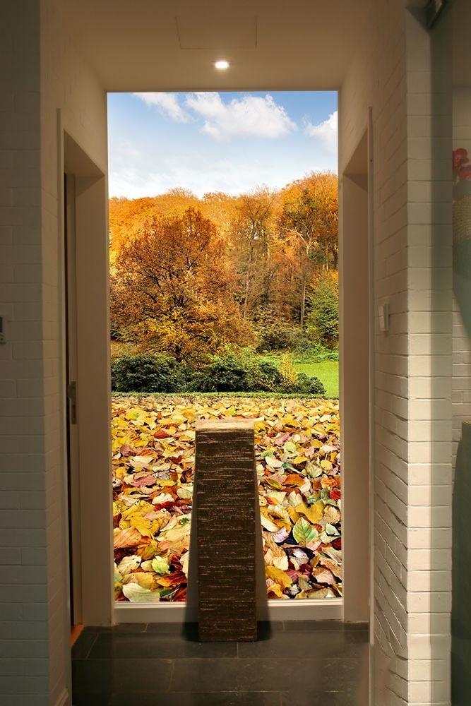 3D Blätter, Wald 576452 Fototapeten Wandbild Fototapete BildTapete Familie DE