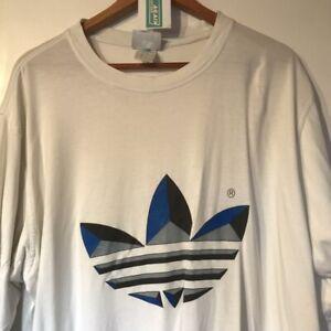 Adidas T-shirt - White XXL 90's Vintage Clothing T-Shirt