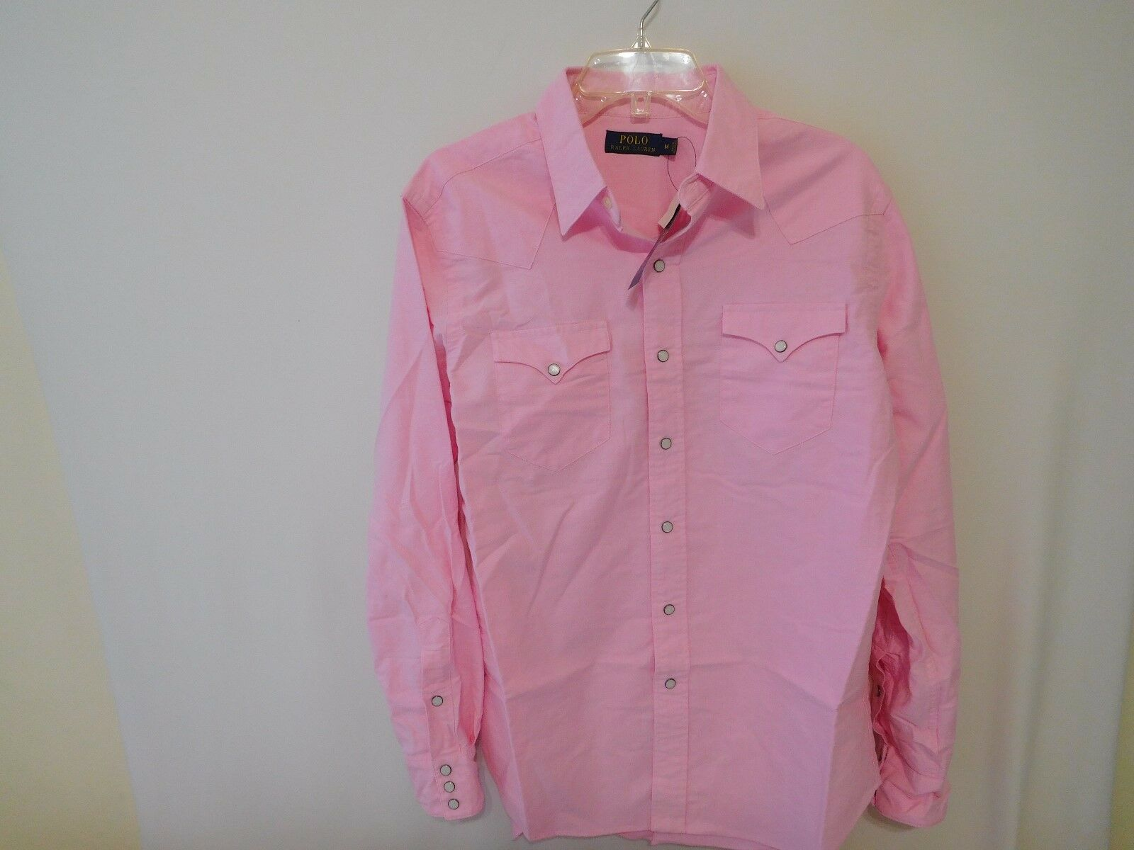 Ralph Lauren Men Cotton Oxford Western Shirt -  Medium M NEW
