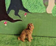 Cricket The Puppy w flowers WS 1699 Miniature Fairy Garden