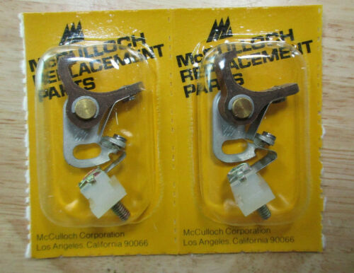 McCulloch Kart /& Chainsaw NEW Breaker Points Mc92 Mc 91 Mc 49 1-51 250 380 Pair