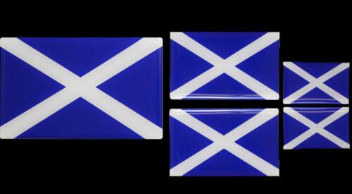 Gel Sticker SET OF 5 Free P/&P Scotland Scottish Flag Resin Domed Decal