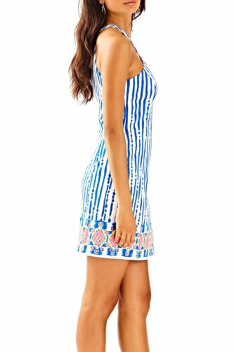 $188 Lilly Pulitzer Iveigh Blue Crush Bay Stripe Engineered Shift Dress