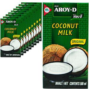 10-x-Aroy-D-Latte-di-Cocco-500ml-LATTE-COCCO-COCONUT-MILK-cremosa-ideale-per-cucinare