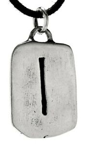 Rune pendant Isa 925 Silver Letter I Various Chains No 307