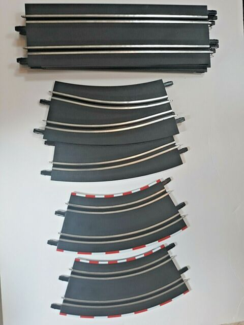 LOT OF 9 - Carrera Go Slot Car Track Pieces Straight/Curved 1/43 Slot Cars
