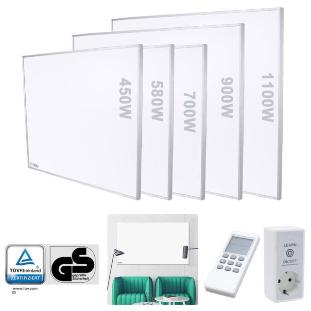 Infrarotheizung Heizstufen Flachheizkörper Heizpaneel mit Thermostat 300W 1000W