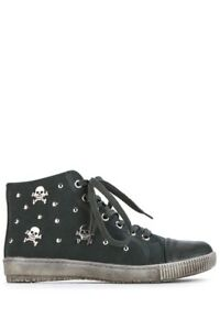 36 Pumps Sneakers Rock Chick Trainers Uk Skull Teenagers 3 Eu Green Studded Punk n7R1OO8Ax