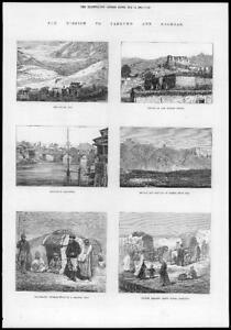 1874-Antique-Print-CHINA-Yarkund-Kashgar-Sasser-Pass-Leh-Cashmere-Lamas-99