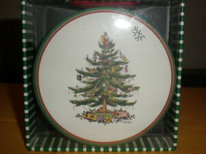 SPODE CHRISTMAS TREE SET OF 12 THICK PAPER COASTERS NEW IN ...