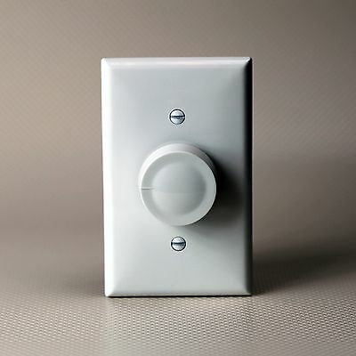 Rotary Dimmer Switch Single Pole Light Intensity Control  White Lighted Dimmer