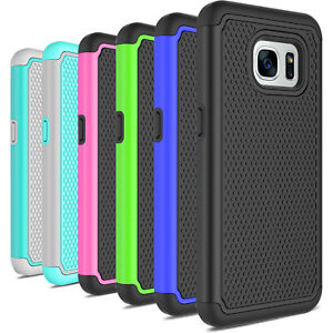For-Samsung-Galaxy-S7-S7-Edge-S4-Hybrid-Armor-Shockproof-Rugged-Hard-Case-Cover