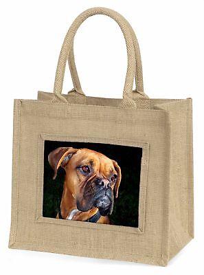 Boxer Hund große natürliche jute-einkaufstasche Weihnachten