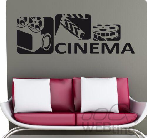 6 Film cinéma cinema rétro tapisserie murale autocollant sticker deco no