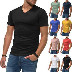 Jack-amp-Jones-T-Shirt-Hommes-Messieurs-Shirt-Shirt-Manches-Courtes-Shirt-unicolore-SALE