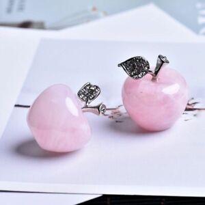 Natural Rose Quartz Pink Apple Diy Gift Study Room Home Decoration Accessories Ebay