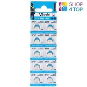 10-VINNIC-371-SR69-371F-BATTERIES-SILVER-OXIDE-1-55V-WATCH-BATTERY-EXP-2023-NEW