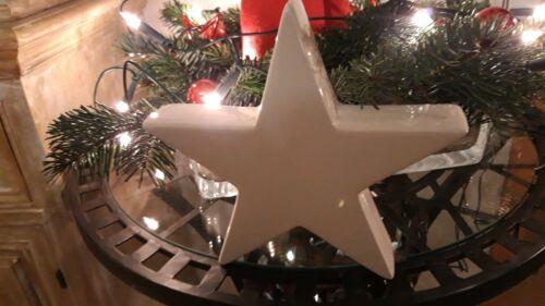 Weihnachten 1 weißer Keramik Stern 25 cm Neu