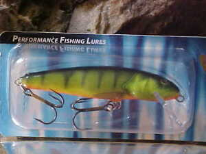 Details about Salmo Floating Minnow M7F-HP in HOT PERCH for  Bass/Trout/Perch/Walleye/Pickerel