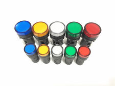 5pcslot Mixed Color Of Led Power Indicator Signal Light Pilot Lamp 16mm22mm