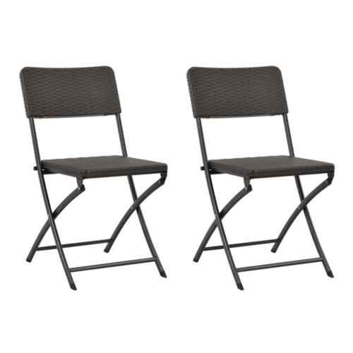2pcs/4pcs Folding Garden Chairs Rattan Camping Picnic Party Outdoor Seat Chairs