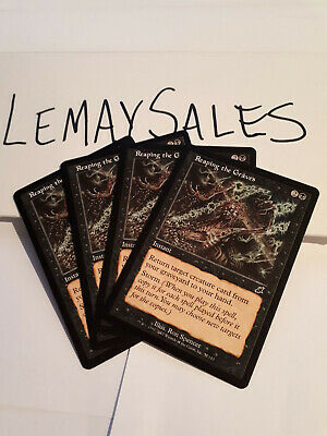 mtg Scourge 4 Reaping the Graves LP x4 4x