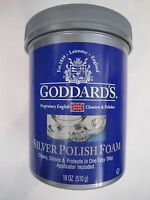 Goddard's Silver Polish Foam Cleans Shines Protects Applicator Included 18 Ounce