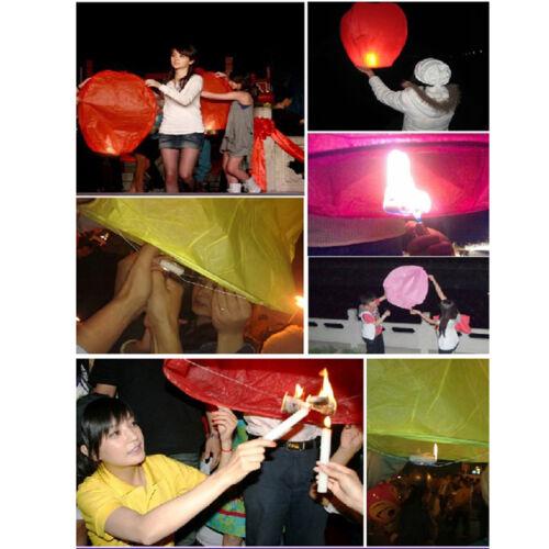 1X Himmel Fliegen Papier Laternen wünscht Glück Licht Pro I7H4