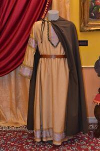 Tunica-Medioevo-Abito-Storico-Costume-di-Scena-Costume-Teatro-Abito-d-039-Epoca-MT08