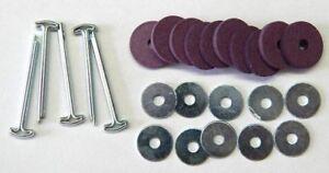 5 Gelenksätze für Teddybären mit Pappscheiben 15 mm / Teddy - Gelenke