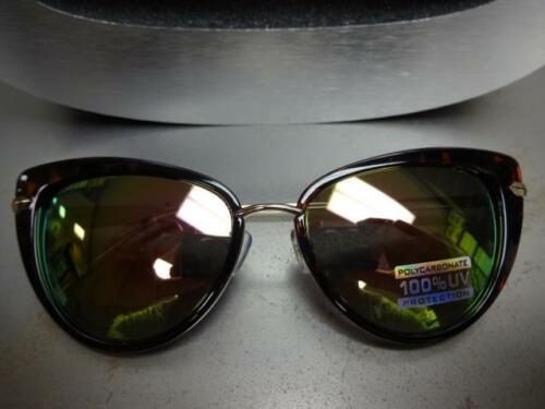 CLASSIC VINTAGE RETRO CAT EYE Style SUNGLASSES Tortoise /& Gold Frame Mirror Lens