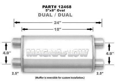Magnaflow Universal Satin Stainless Muffler-Free Shipping-NEW!!