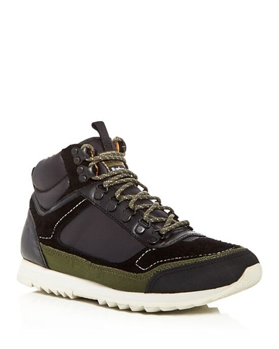 NEW 160 Barbour Highlands Mid Top Sneaker Hiking Boot in Black sz 8