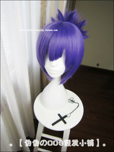 Owari-no-Seraph-of-the-End-Lacus-Welt-Short-Purple-Cosplay-Hair-Ponytail-Wig