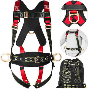 Fall-Protection-Construction-Harness-Full-Body-Safety-Waist-Belt-Universal