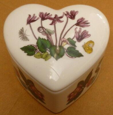 BG76040x Portmerion Botanic Garden Mini heart Treasure Box