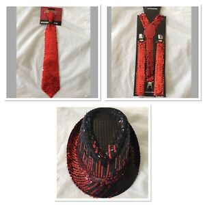 Adult-Gangster-Detective-Costume-Set-Red-Sequin-Hat-Suspenders-Tie-Party