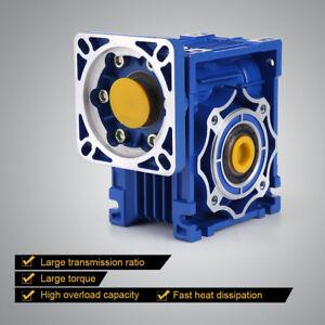 NMRV40-100-1-1400RPM-Schneckengetriebe-Box-fuer-9-11-14mm-Stepping-Getriebemotor